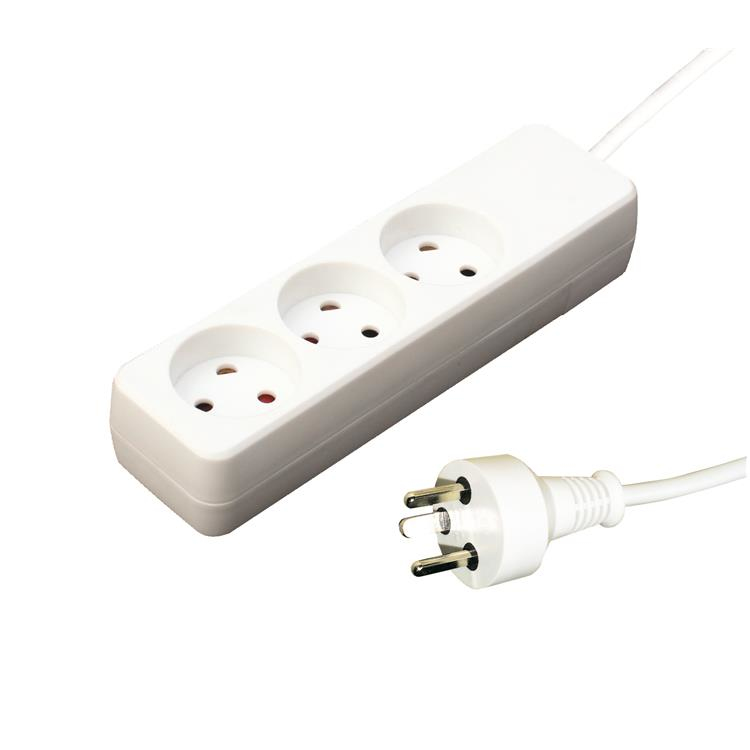 Garbot 24155119-1E power extension 1 m 3 AC outlet(s) Indoor White