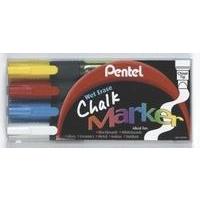 Pentel CHALK MARKERS ASST PK4