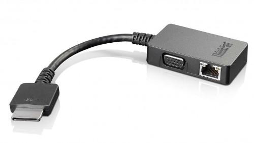 Lenovo 4X90J31060 cable gender changer OneLink+ VGA/RJ45 Black