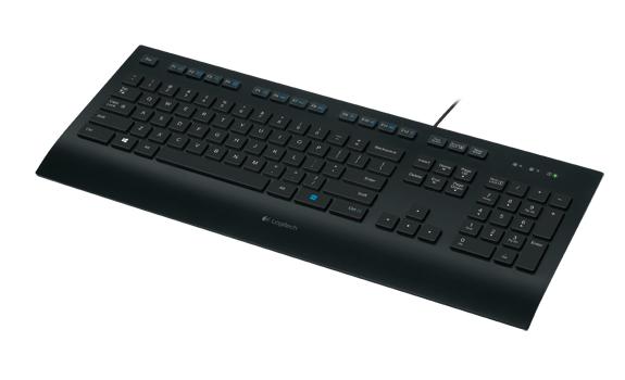 Logitech K280e keyboard USB French Black