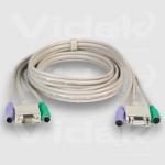 Videk SVGA/PS2 Monitor Mouse Keyboard Extension Cable Set 5m KVM cable