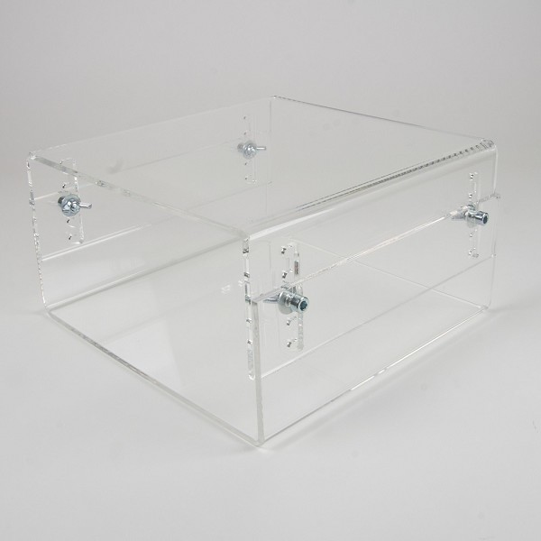 Newstar Height Adjustable Transparent Monitor Stand (Clear Acrylic)