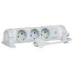 C2G 80824 Indoor 3AC outlet(s) 3m Grey,White power extension