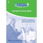 Astroplast Accident Report Book A4 50 Pages
