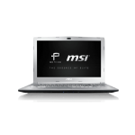 "MSI Prestige PE62 8RC-021UK 2.20GHz i7-8750H 8th gen Intel® Core™ i7 15.6"" 1920 x 1080pixels Silver Notebook"