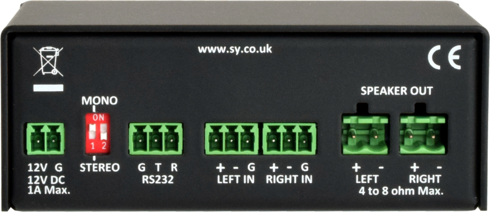 SY Electronics SY-1A-25R audio amplifier 2.0 channels Performance/stage Black