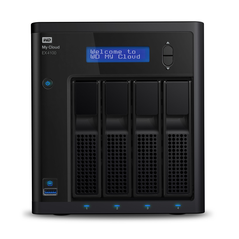 Western Digital My Cloud EX4100 24TB NAS Desktop Ethernet LAN Black