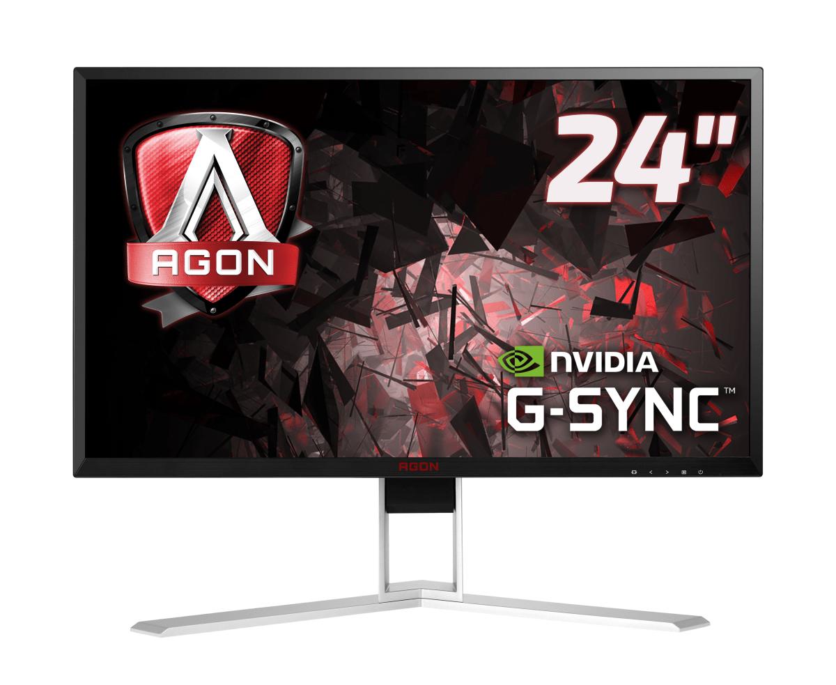"AOC Gaming AG241QG pantalla para PC 60,5 cm (23.8"") 2560 x 1440 Pixeles Quad HD LED Negro, Rojo"