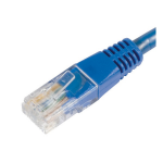 Wicked Wired 1m Blue CAT5E UTP RJ45 To RJ45 Network Cable