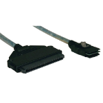 Tripp Lite Internal SAS Cable, mini-SAS (SFF-8087) to 4-in-1 32pin (SFF-8484), 18-in. (0.5M)