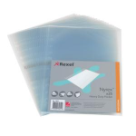 Rexel Nyrex™ Heavy Duty Side Opening A4 Pocket Embossed(25) filing pocket
