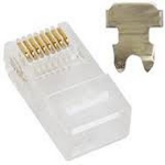 Astrotek RJ45 50pcs RJ-45 Transparent wire connector
