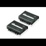 Aten VE802 AV extender AV transmitter & receiver Black