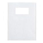 GBC LeatherGrain Binding Covers 250gsm with window A4 White (50)