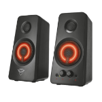 Trust 21202 2.0channels 18W Black,Red speaker set