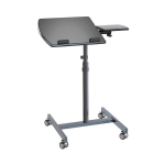 Vision Mounts Black Height Adjustable Laptop Cart