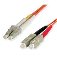 StarTech.com 5m Duplex MM Fiber Optic Cable LC-SC 5m Orange fiber optic cable
