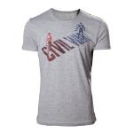 Marvel Adult Male Captain America: Civl War Stark vs. Cap T-Shirt, Small, Grey (TS828035CAP-S)