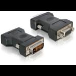 DeLOCK VGA 15pin F > DVI 24+5 M DVI-I 15pin VGA Black