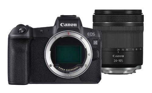 Canon EOS R Body and RF 24-105mm F4-7.1 IS STM MILC 30.3 MP CMOS Black