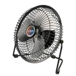 Akasa AK-UFN03-BK household fan Aluminium, Black