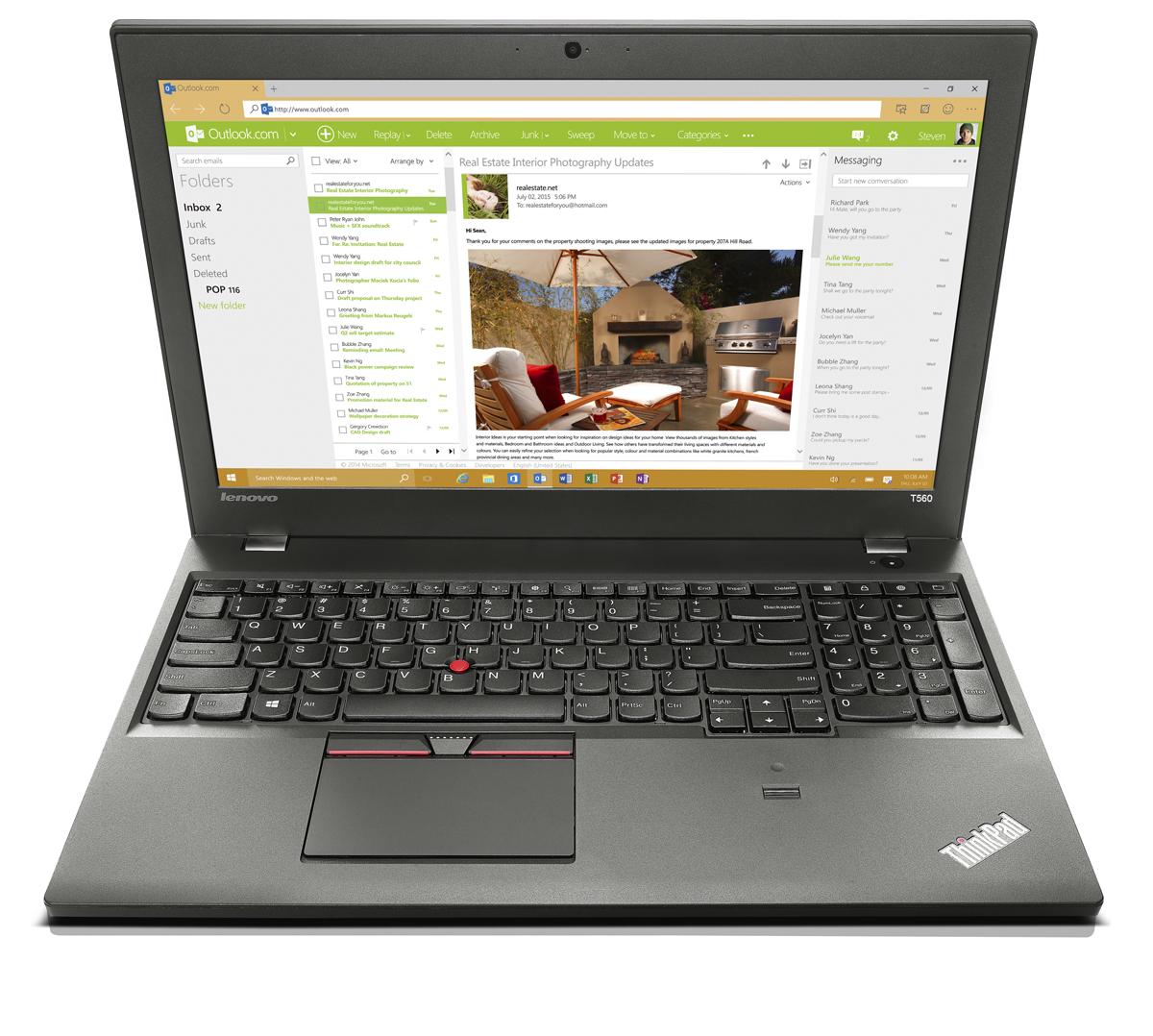 """Lenovo ThinkPad T560 2.6GHz i7-6600U 15.6"""" 1920 x 1080pixels 3G 4G Black"""