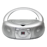 Hamilton Buhl MPC-3030 portable stereo system Analog Silver
