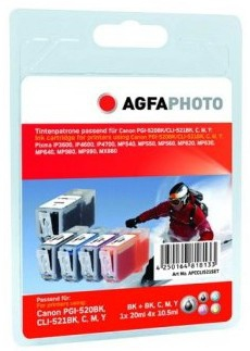 AgfaPhoto APCCLI521SETD Black, Cyan, Magenta, Yellow ink cartridge