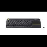 Logitech K400 Plus keyboard RF Wireless QWERTZ Swiss Black