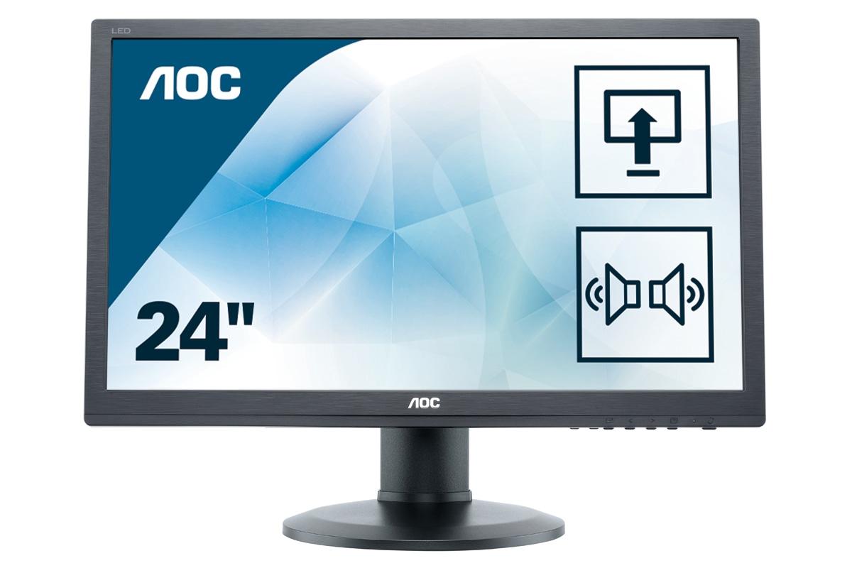 "AOC Pro-line E2460PDA LED display 61 cm (24"") Full HD LCD Plana Mate Negro"
