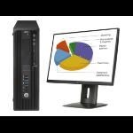 HP Z 240 SFF + Z24n 3.4GHz i7-6700 SFF Black