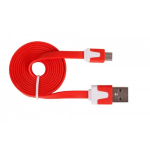 Urban Factory Cable Flat USB to Micro USB - Red 1m
