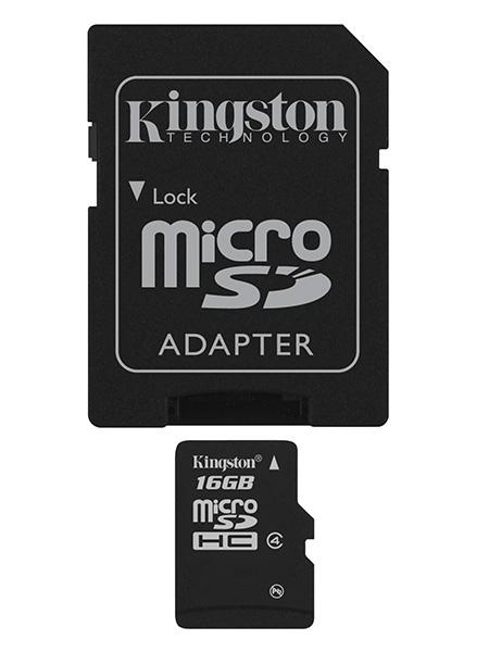 Kingston Technology 16Gb microSDHC 16GB MicroSDHC Flash Class 4 memory card