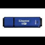 Kingston Technology DataTraveler Vault Privacy 3.0 Anti-Virus 64GB 64GB USB 3.0 (3.1 Gen 1) USB Type-A connector Blue USB flash drive