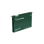 Rexel Crystalfile Extra A4 Suspension File 30mm Green (25)