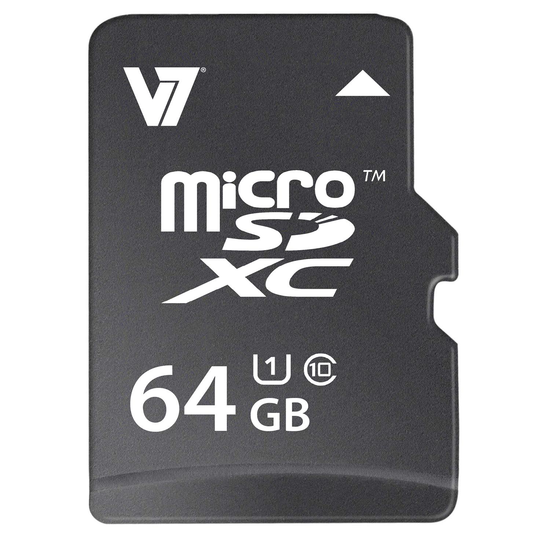 V7 VAMSDX64GUHS1R-2E flashgeheugen 64 GB MicroSDXC Klasse 10 UHS-I