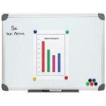 NOBO WHITEBOARD WALL MOUNTED ALUMINIUM FRAME MAGNETIC 900X1500MM