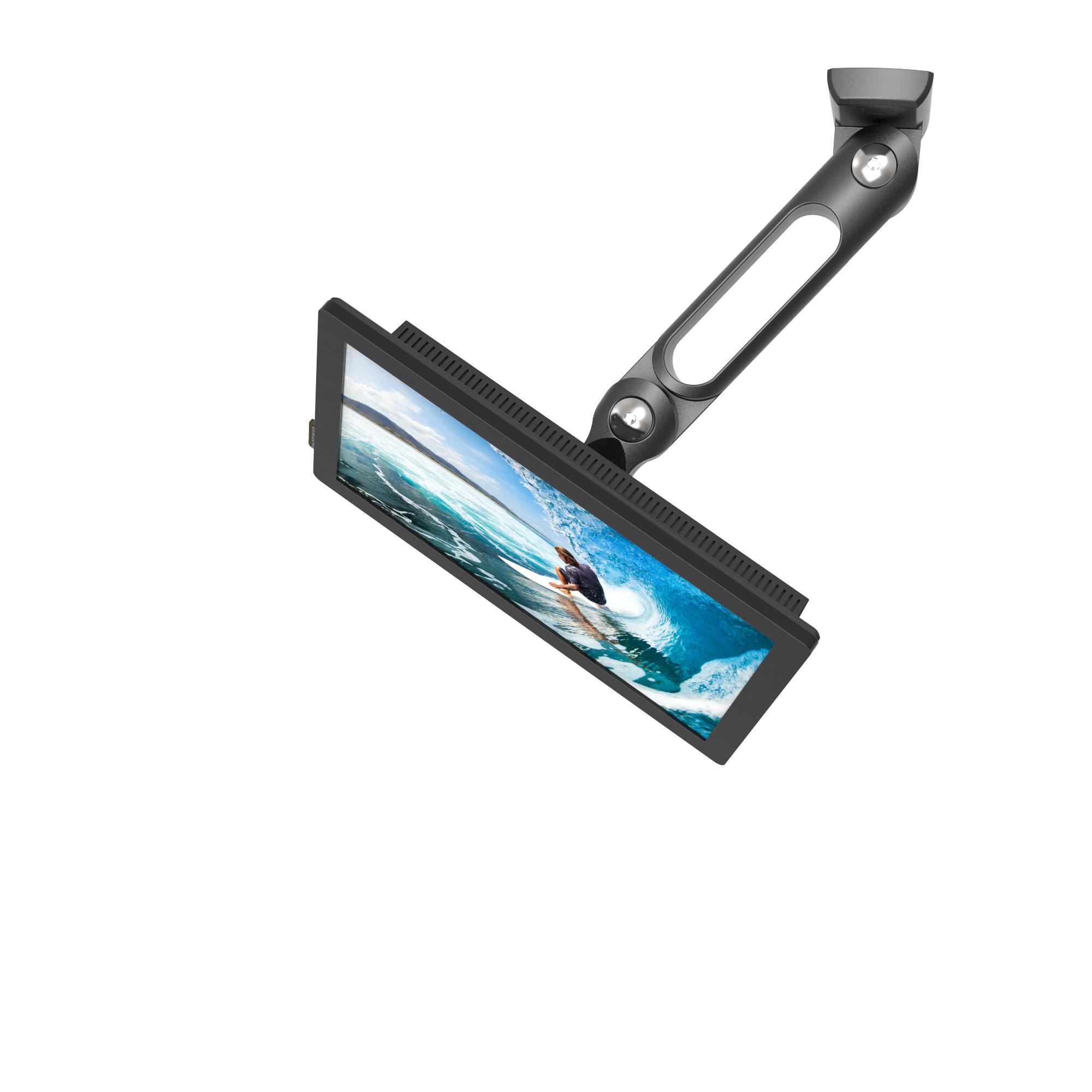Compulocks Swing Arm Samsung TouchScreen Wall Mount Black - Mounting kit (swing arm) for tablet - hi
