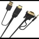 Vision TC-2MHDMIVGA-BL 2 m HDMI + USB VGA (D-Sub) + 3.5mm Schwarz