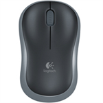 Logitech M185 Wireless Notebook Mouse, USB Nano Receiver, Black/Blue