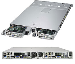 Supermicro 1028TP-DC1R Intel C612 LGA 2011 (Socket R) 1U Black