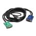 APC AP5822 cable para video, teclado y ratón (kvm) 3,66 m Negro