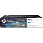 HP L0R13A (981Y) Ink cartridge cyan, 16K pages, 183ml