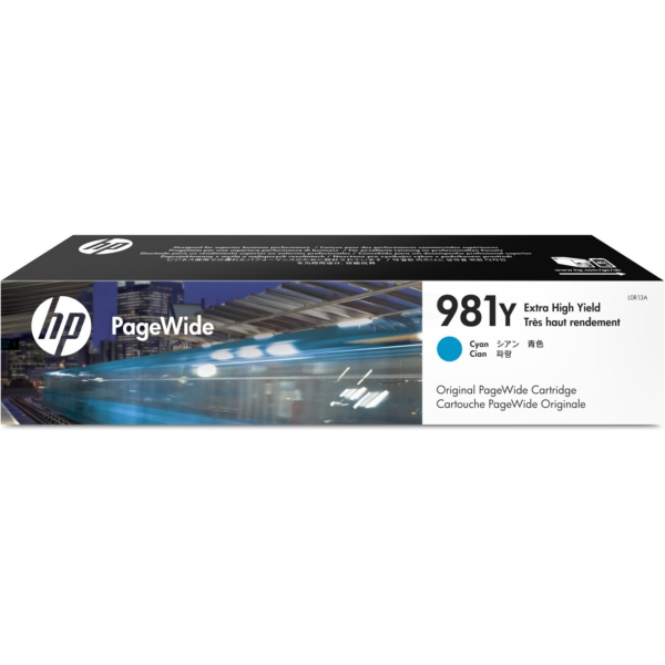 HP L0R13A (981Y) Ink cartridge cyan, 16K pages, 183ml