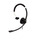 V7 HA401 hoofdtelefoon/headset Hoofdband Zwart, Zilver