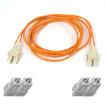 "Belkin Multimode SC/SC Duplex Fiber Patch Cable 10m SCSI cable Orange 393.7"" (10 m)"