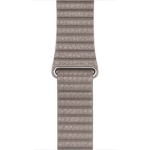 Apple 42mm Leather Loop - Watch strap - Large - smoke grey - for Watch (42 mm)