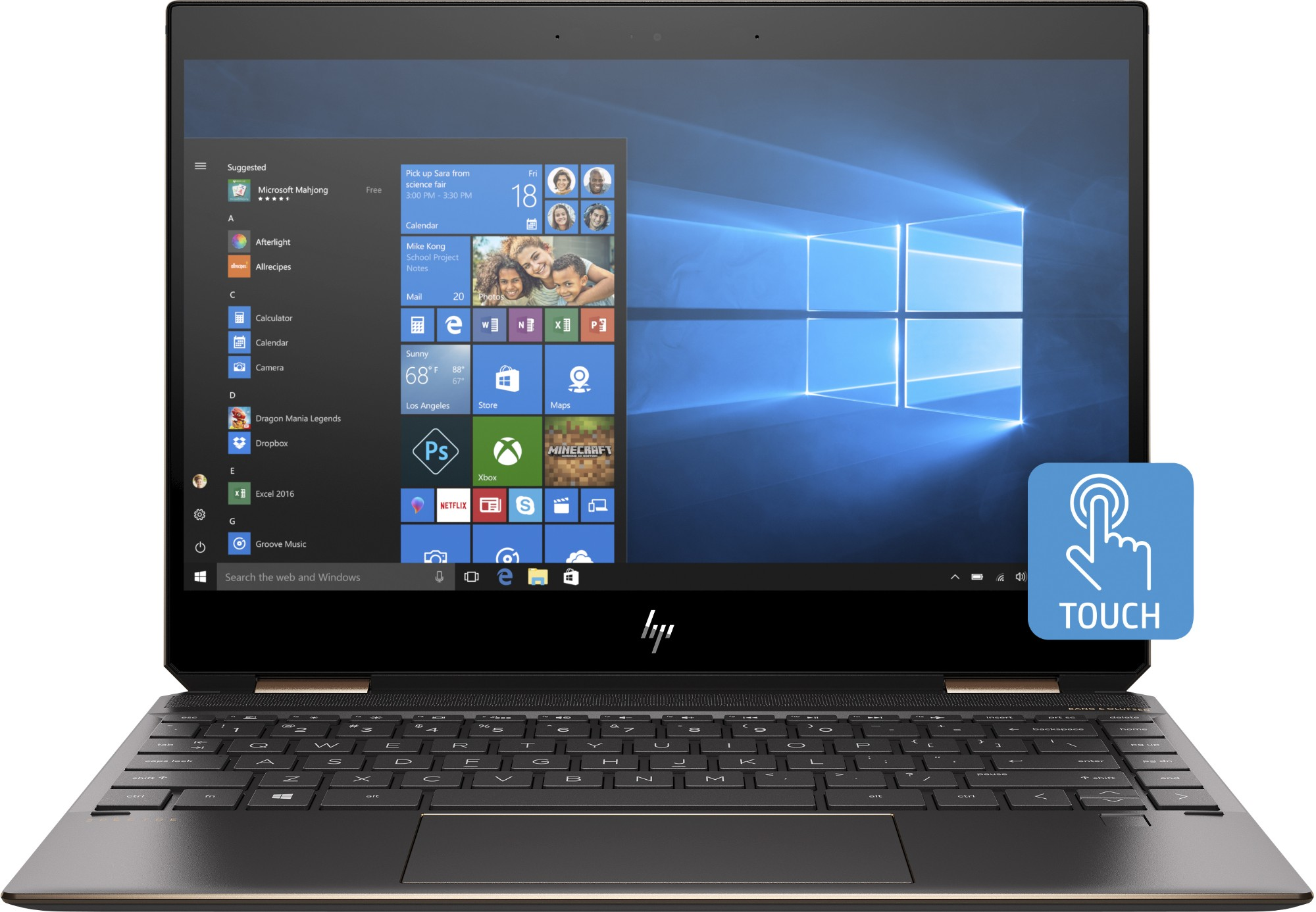 HP Spectre x360 13-ap0000na Hybrid (2-in-1) Black, Silver 33.8 cm (13.3