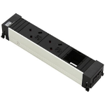 Bachmann 909.0023 power extension 2 AC outlet(s) Indoor Black, Grey