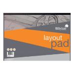 Silvine Layout Pad A3 80lvs 50gsm